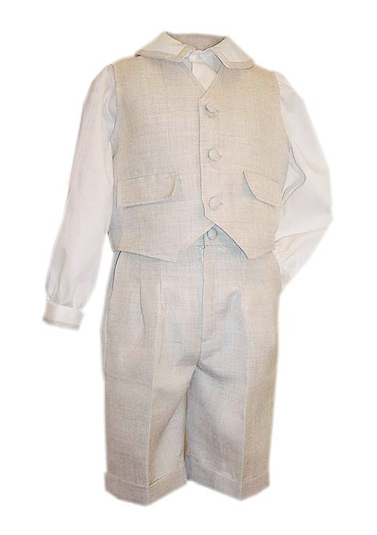 Teo party elegant boy outfit, pants shirt and vest.