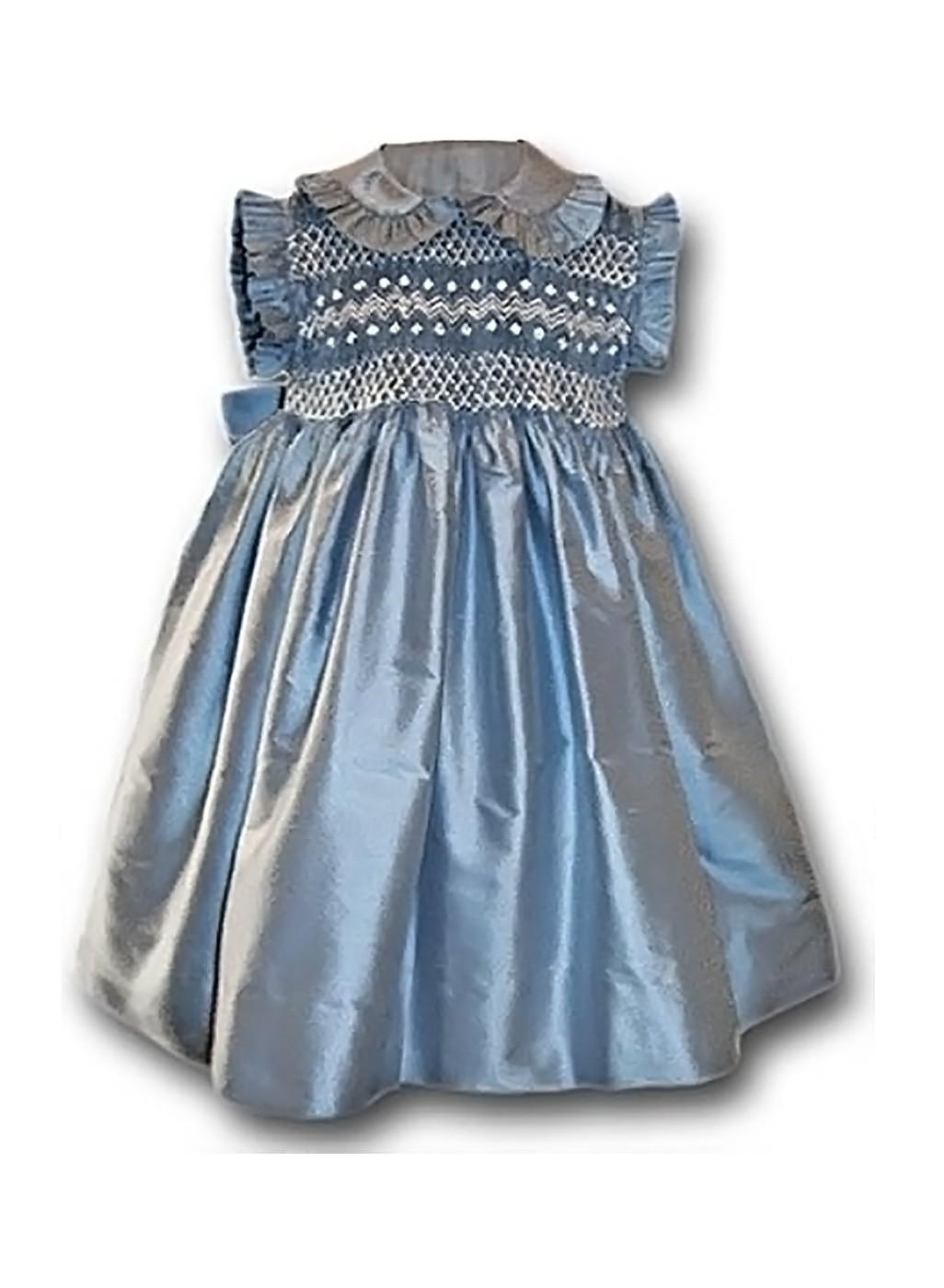 Lavinia abito smaniato smock per bambina