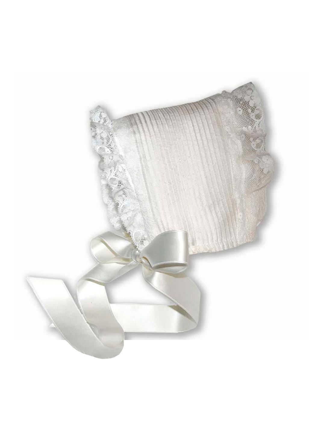 "Baby Christening bonnet ""Peonia"""