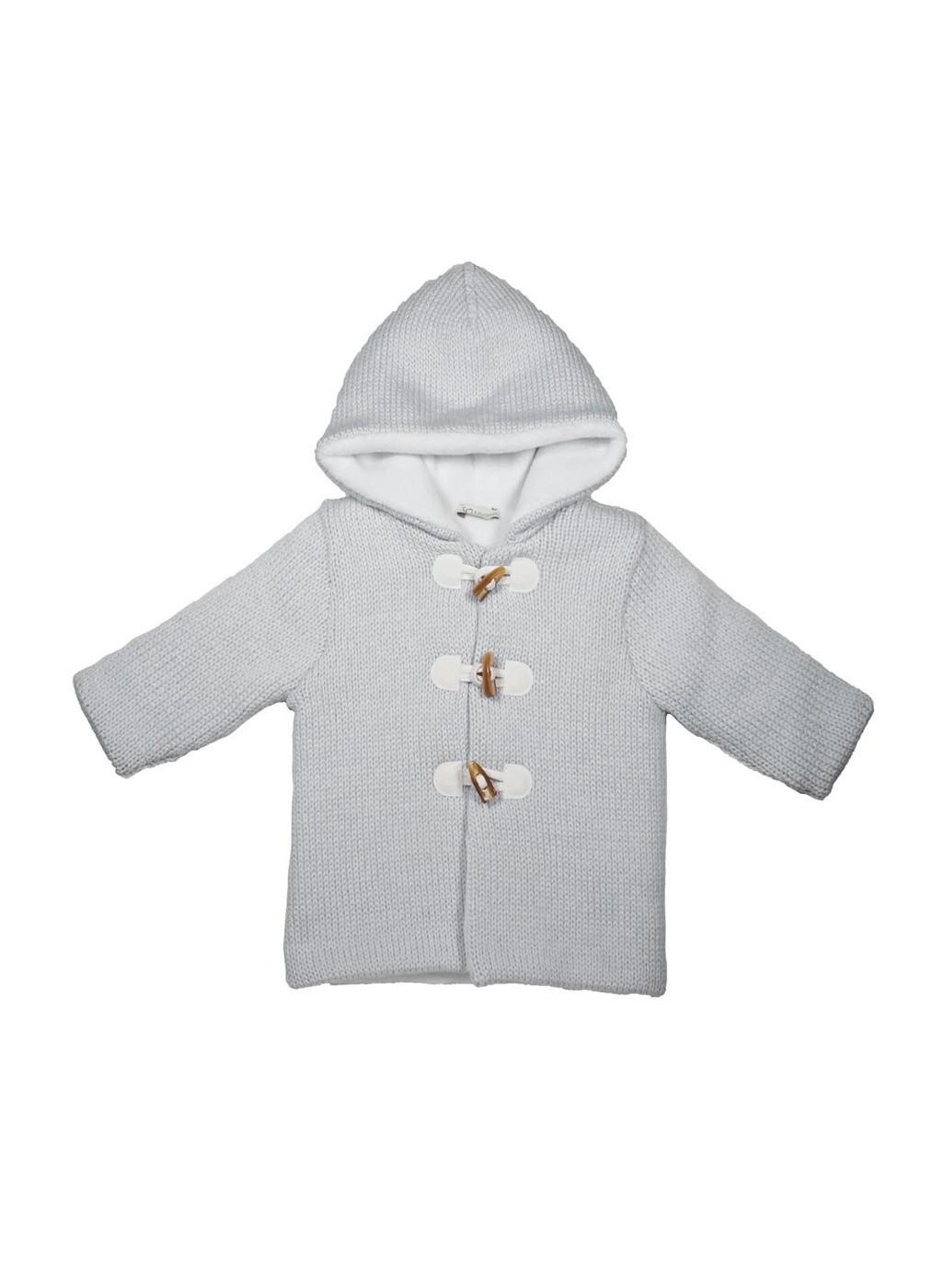 Cappotto invernale maglia lana con cappuccio
