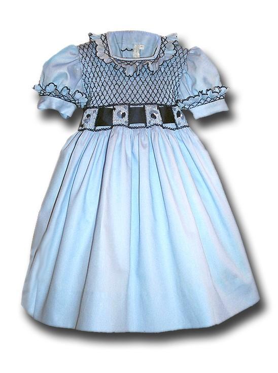 smocked dress for little girl   u0026quot sofia u0026quot