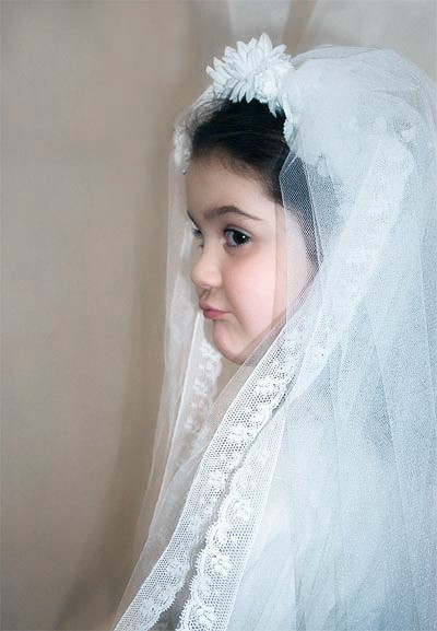 Sun first communion veil