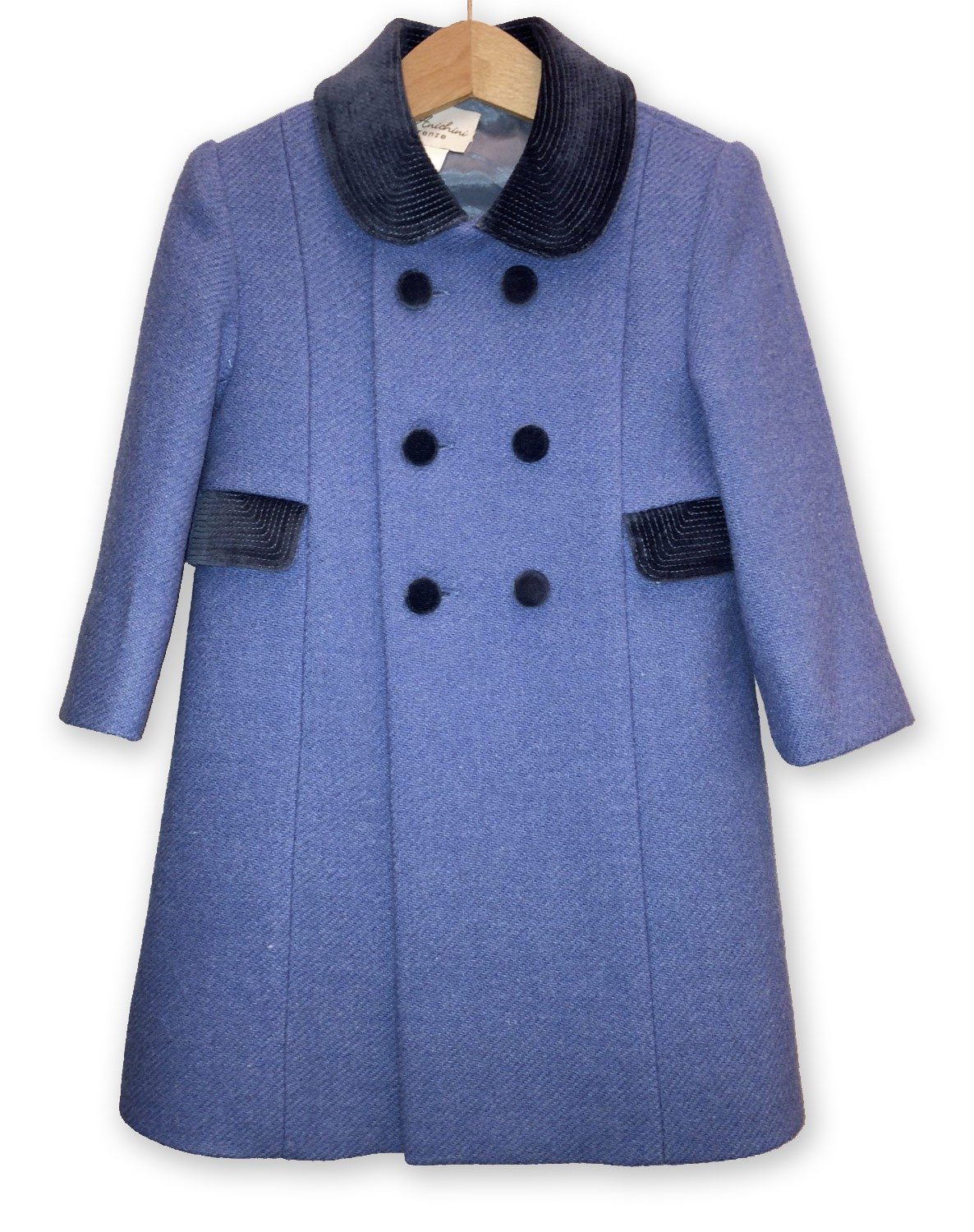 "Children ""Redingote"" winter coat, sugar paper color"
