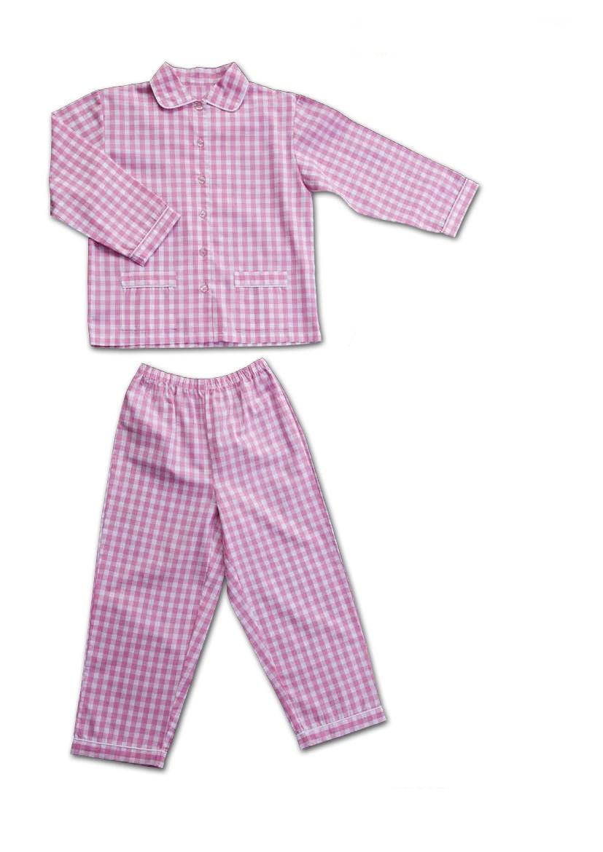 Girl pajamas checked cotton