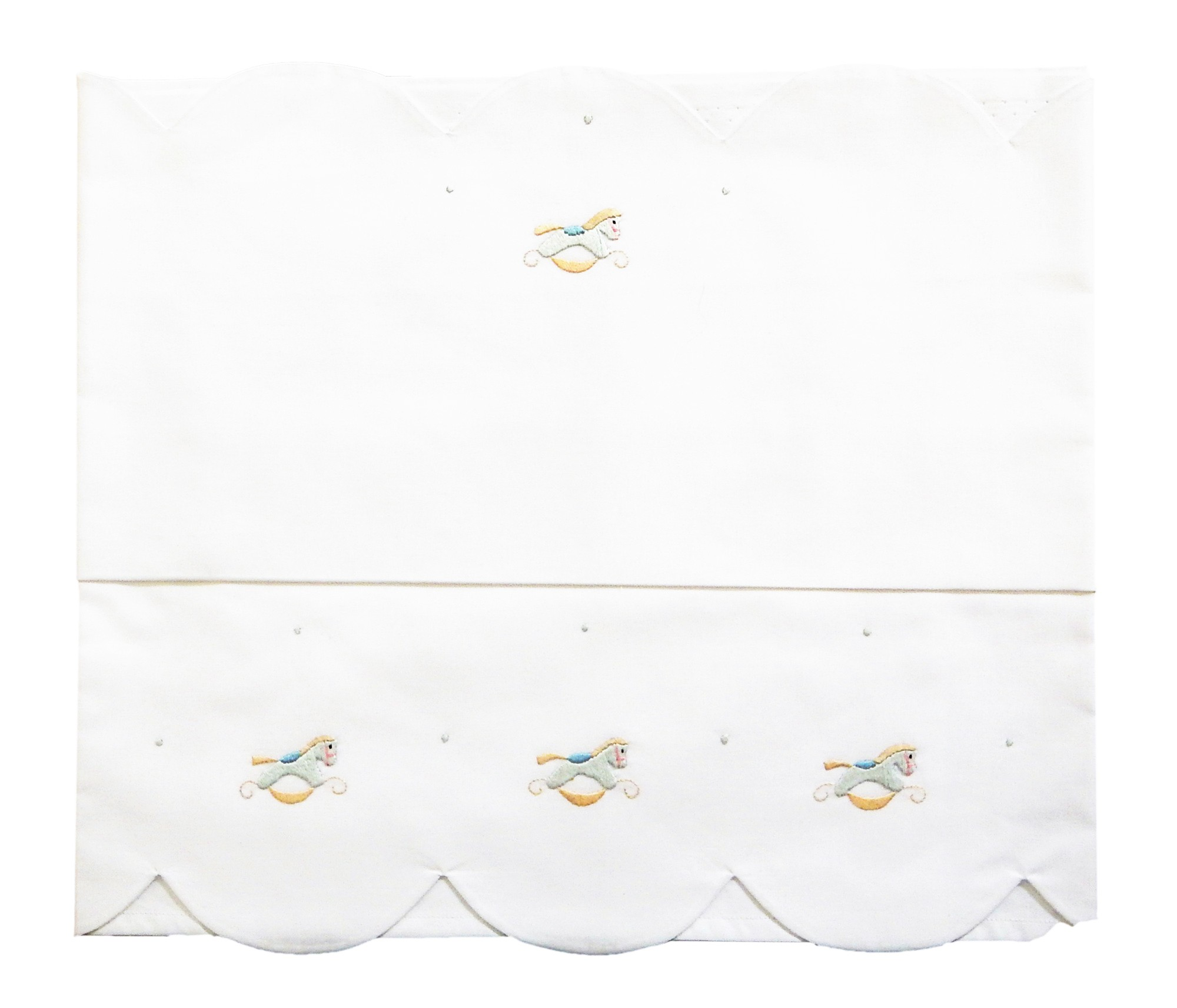 Baby sheet for crib little horses