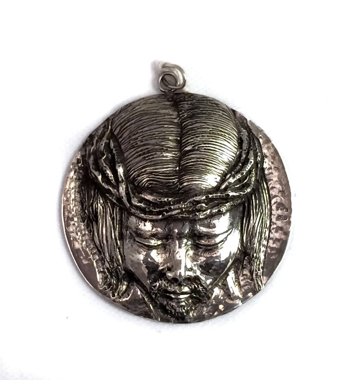 """Medaglione in argento 925 per culla """"Jesus"""""""