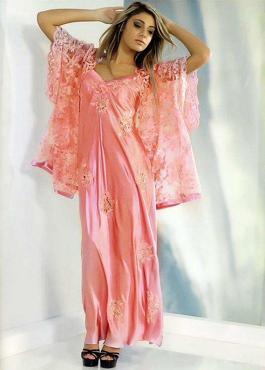 Famoso Calliope lussuosa camicia da notte in seta per signora. DZ51