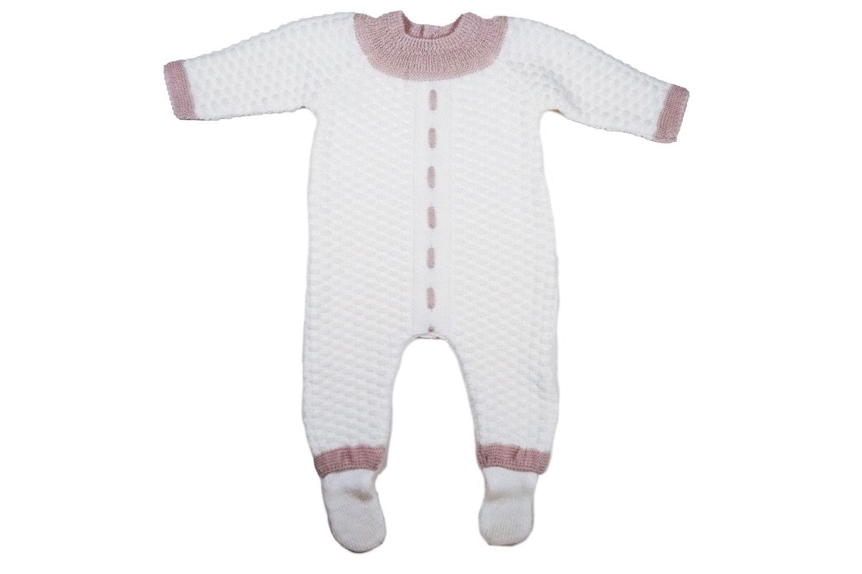 Wool newborn romper