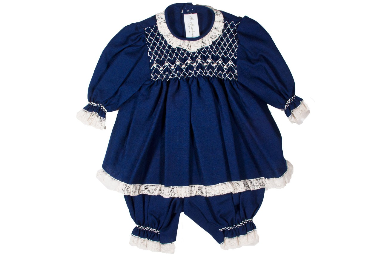 smock baby outfit