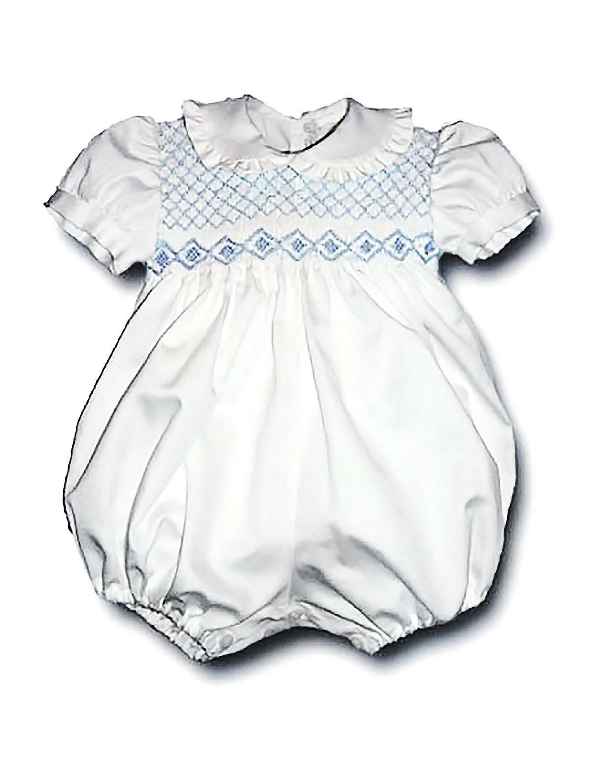 Pagliaccetto neonato smock Zafferano