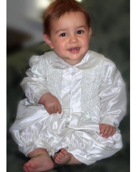 Ciclamino tutina in seta per Battesimo