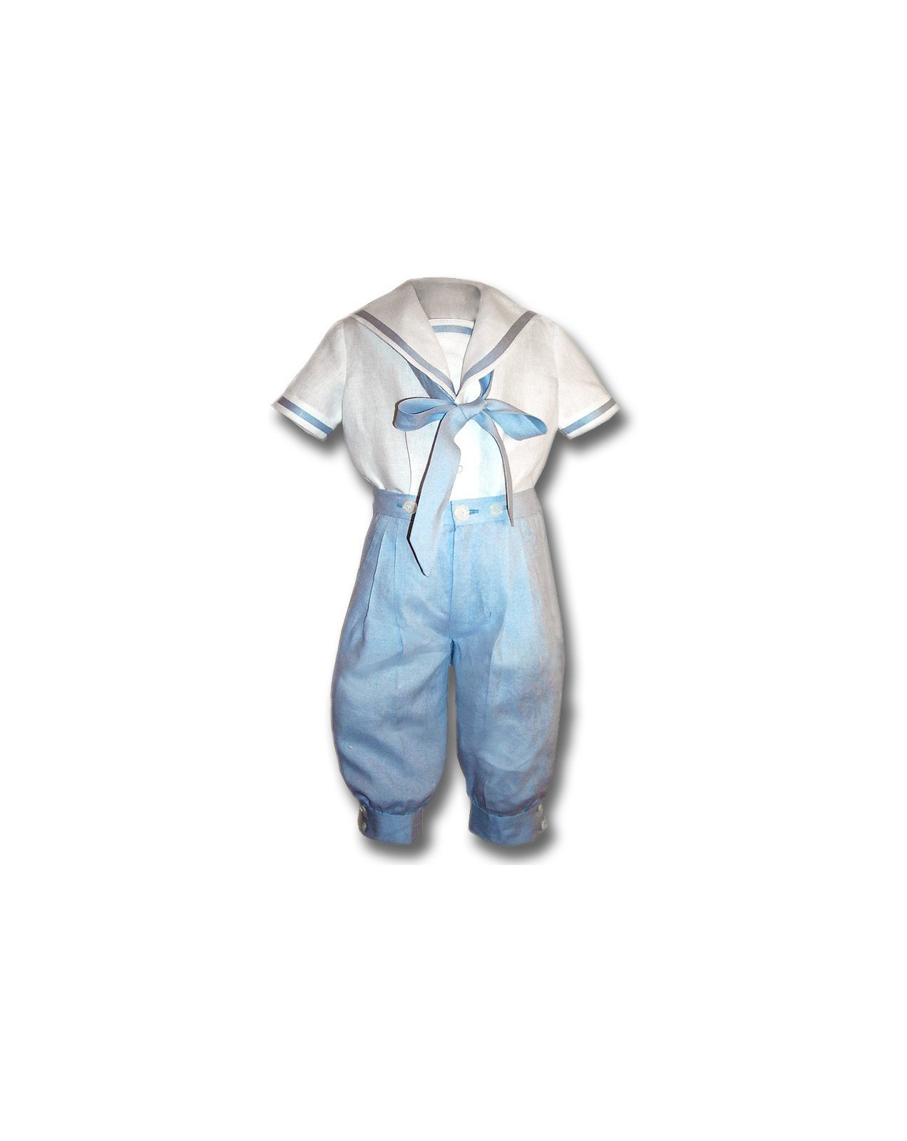 Ubaldo boy sailor outfit pale blue