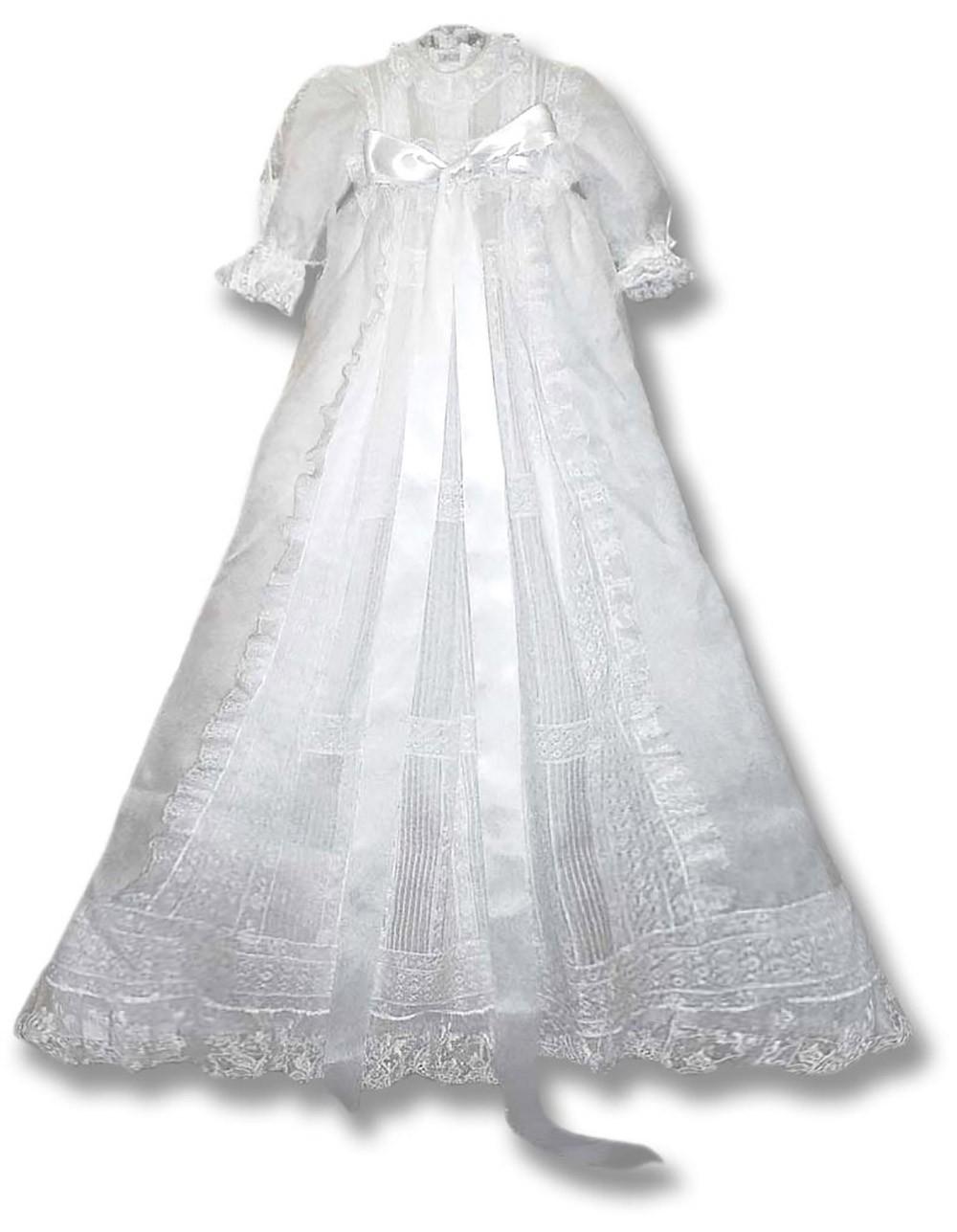 online retailer ded3b c8189 Abito da Battesimo in seta Peonia