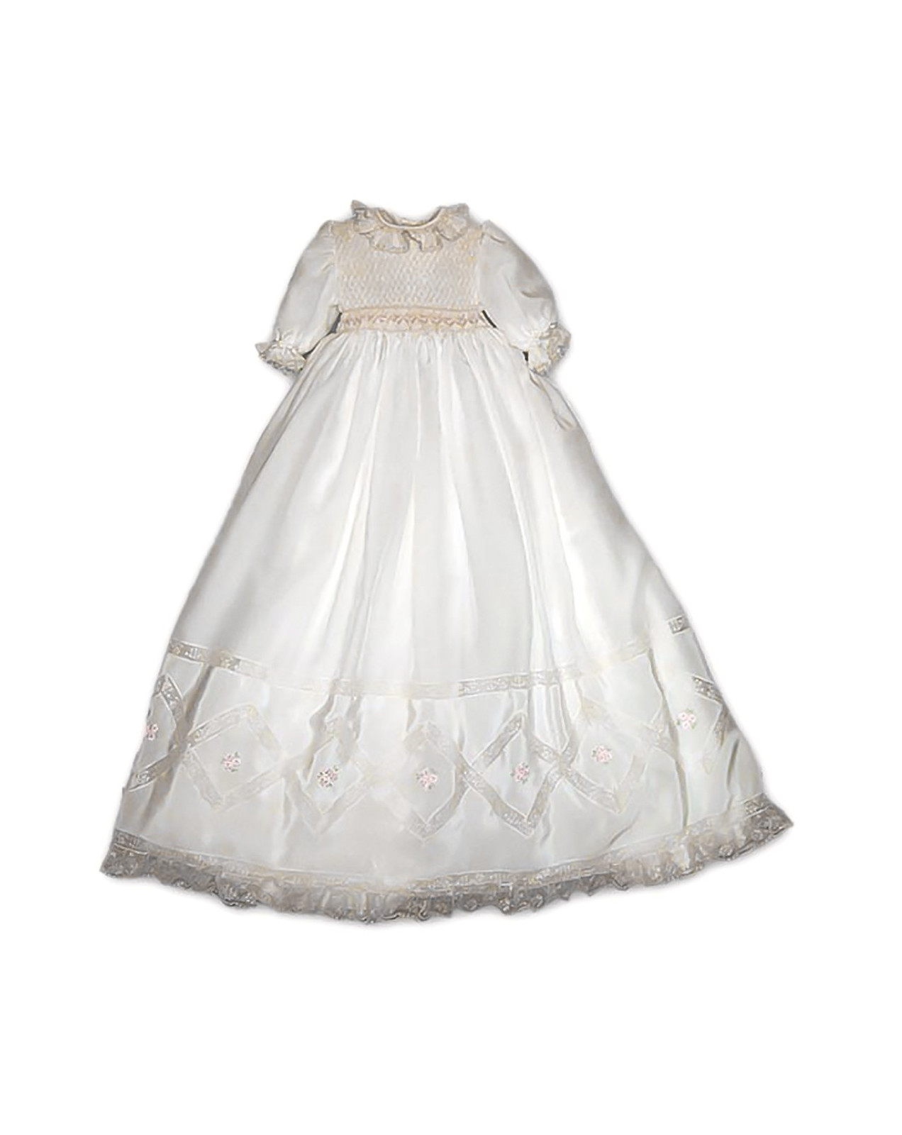Gardenia long Christening gown