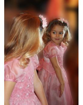 Dianora abito damigella e cerimonia per bambina con smock