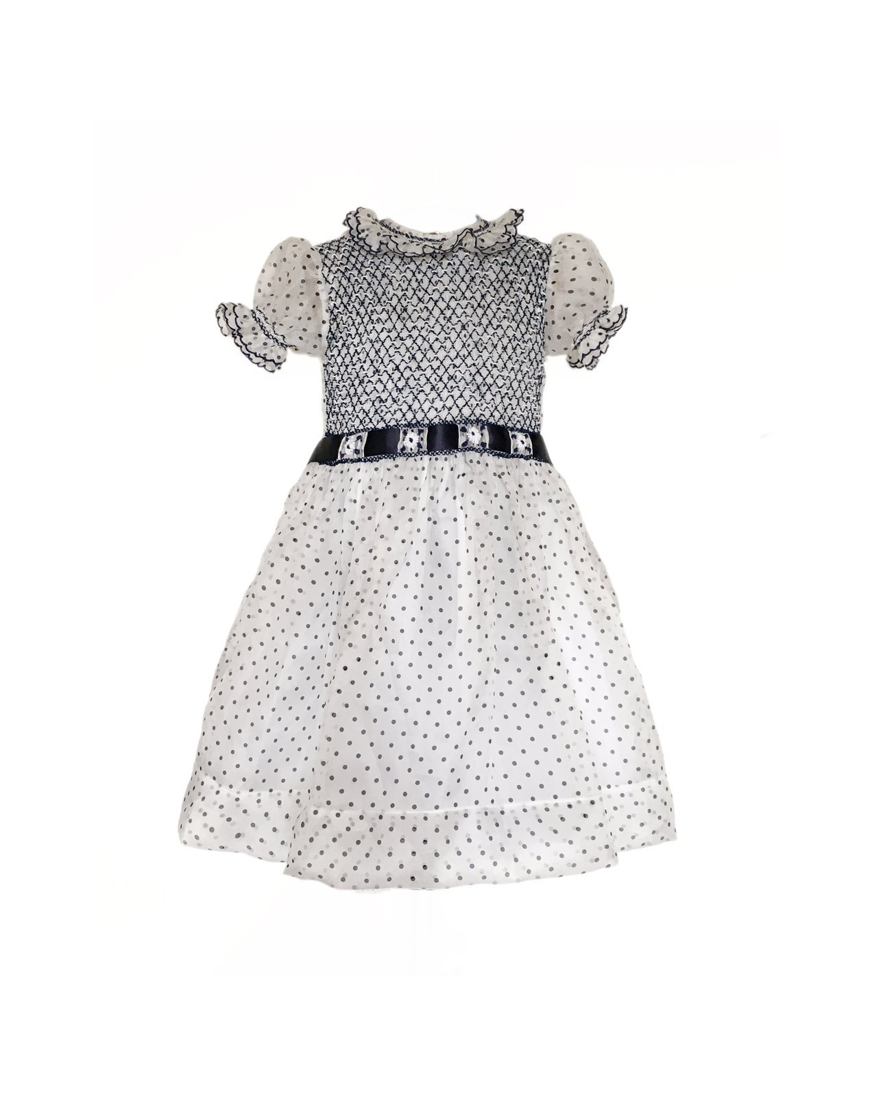 Flower girl smocked dress Audrey