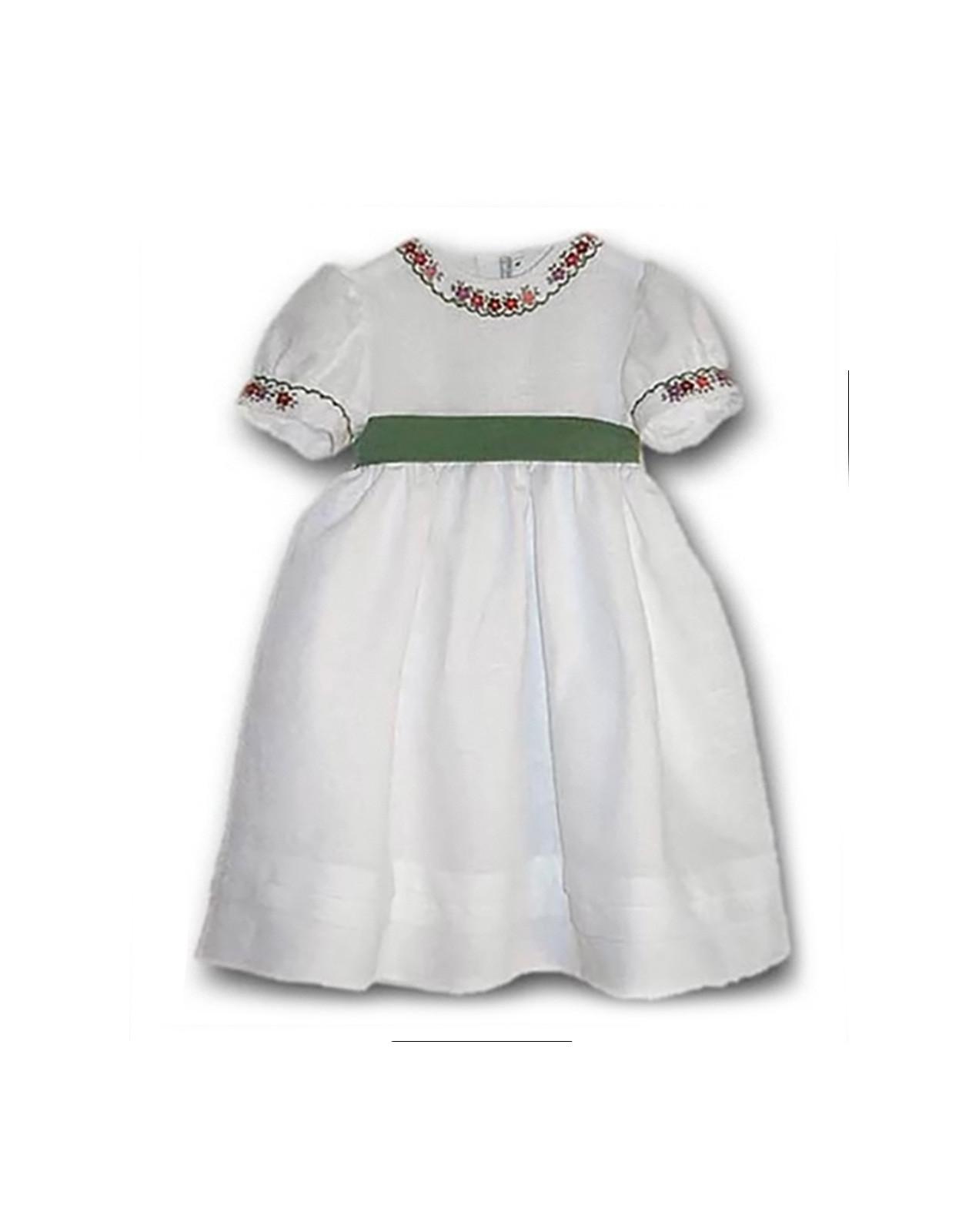 Violent girl linen embroidered does
