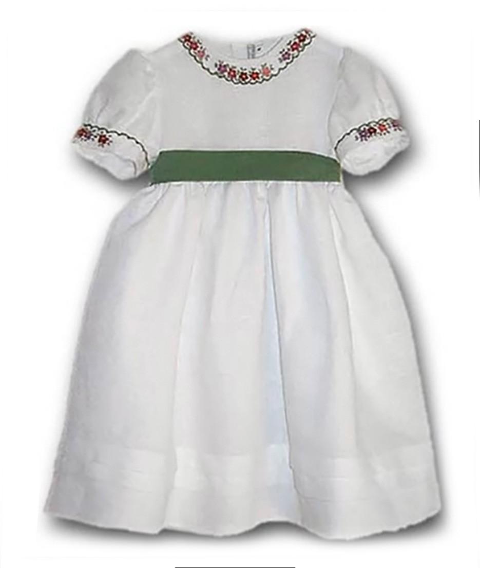 Violante abito bambina lino ricamo