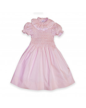 Diletta girl smocked pink dress