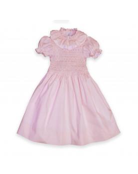 Diletta girl smocked pink dress