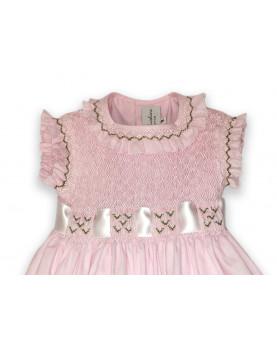 Clarabella abito smock bambina rosa