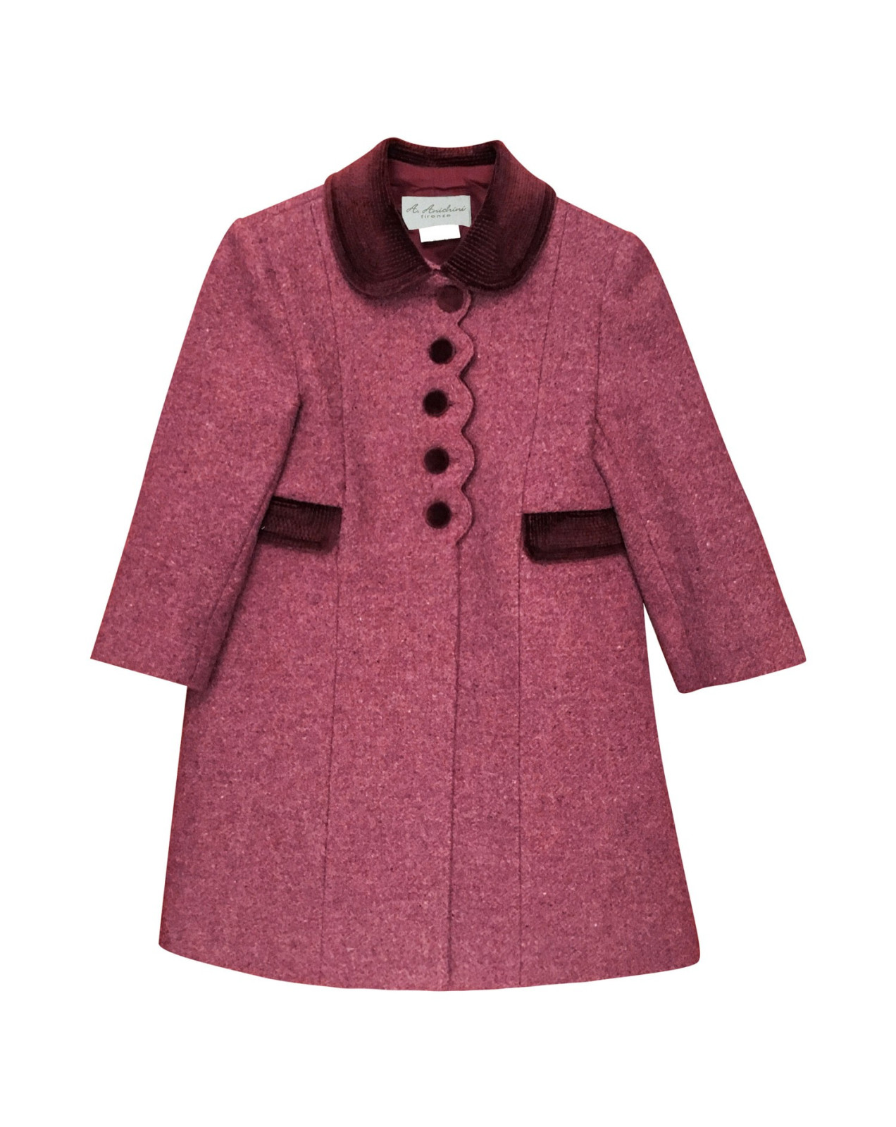 Laura girl winter coat, bordeaux