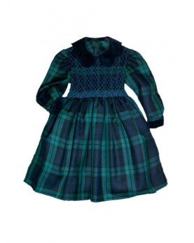 Girl plaid smocked dress Ersilia