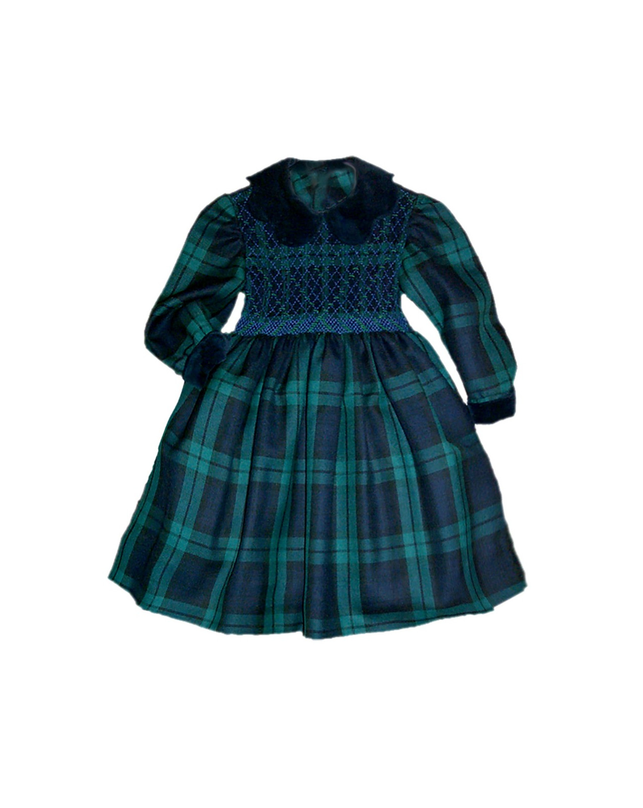Ersilia abito smock bambina scozzese