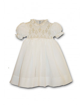 Aurelia girl smocked silk dress