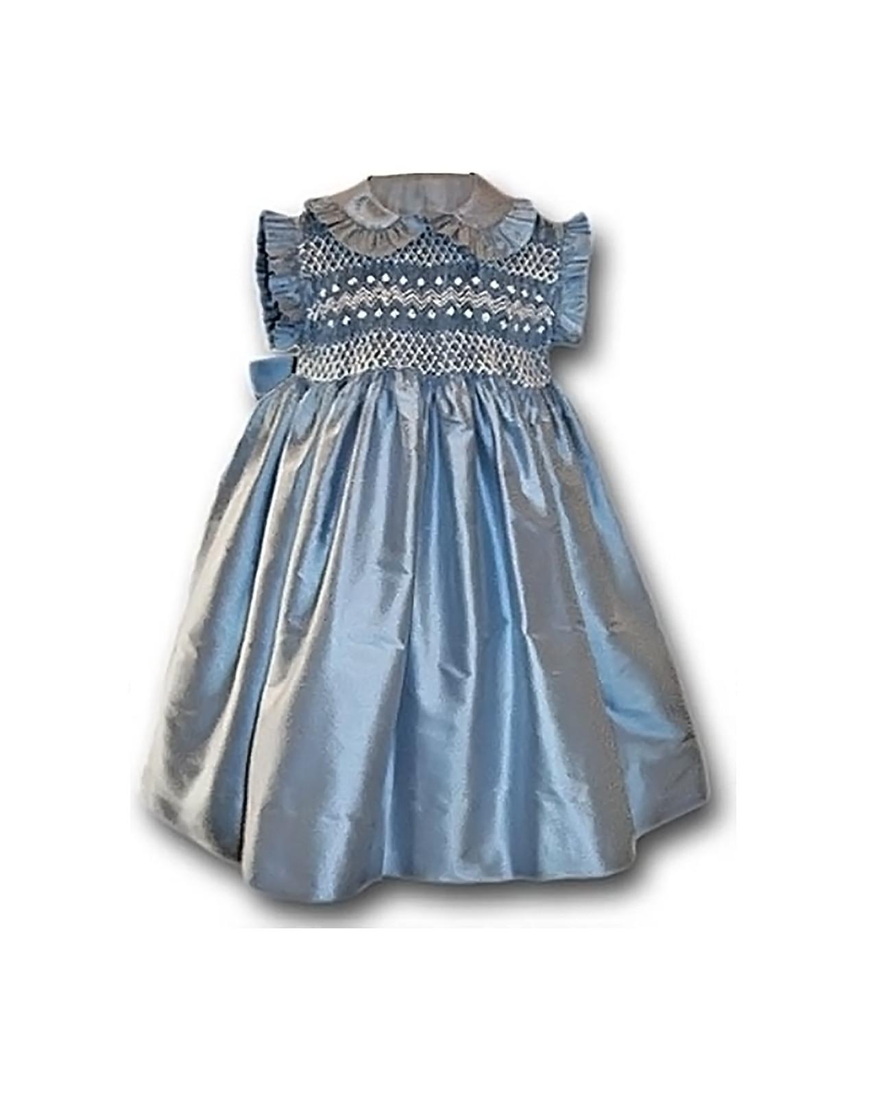 girl smocked dress sleeveless Lavinia