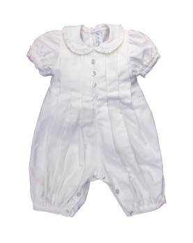 Baby boy and baby girl Christening romper Felce