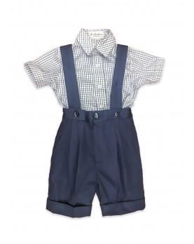 Augusto completo bambino pantaloni e camicia quadri