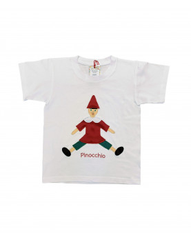 Pinocchio T-shirt hand made in Italy