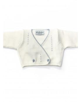 Scaldacuore per neonato ricamato a mano