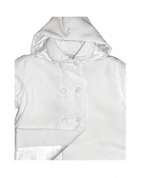 Ciclamino Christening coat detail