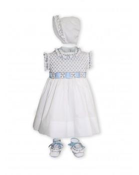 Clarabella abito smock bambina celeste