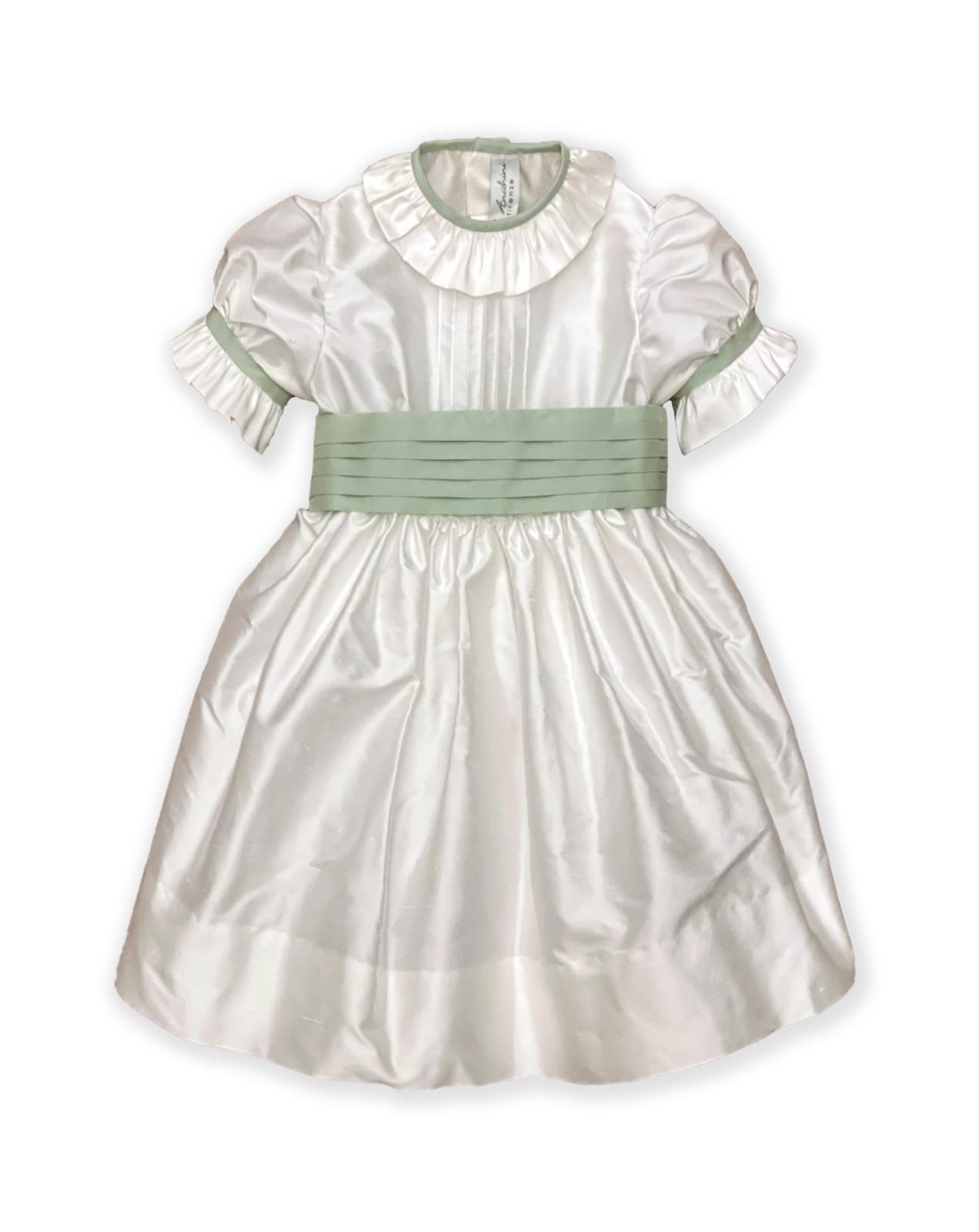 Abito cerimonia bambina Charlotte verde