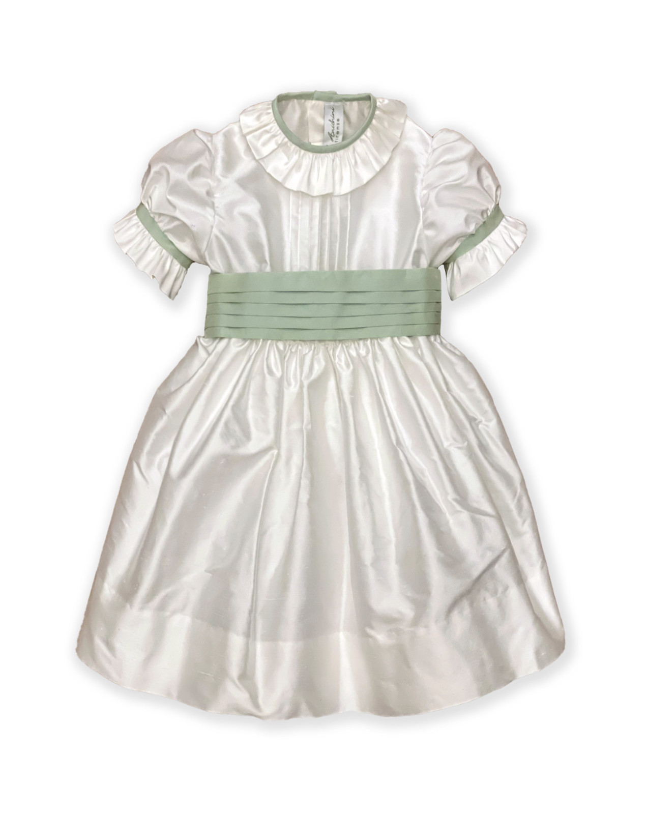 Party dress for girl , Charlotte, green.