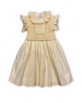 Maria Sole yellow smocked dress