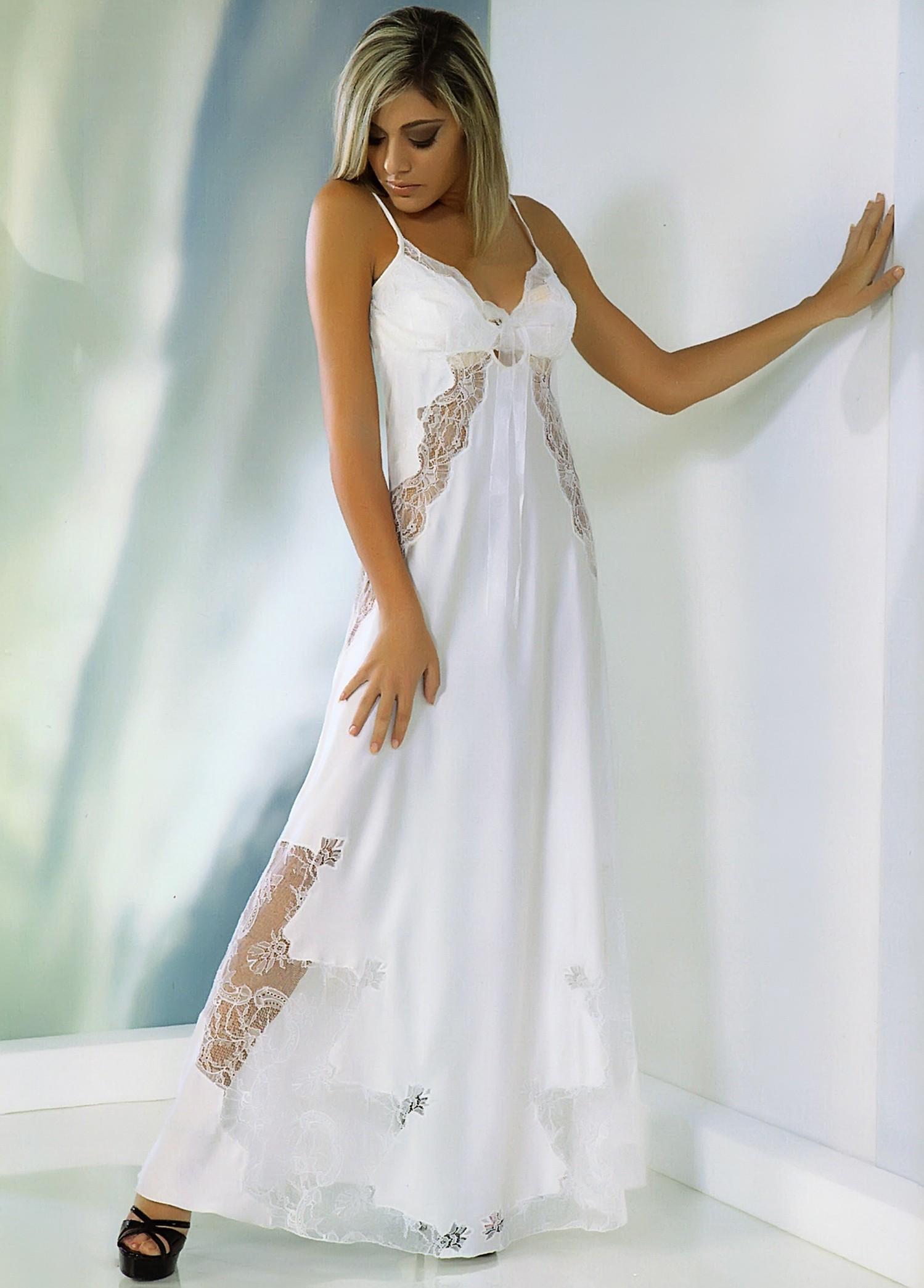 molto carino 15865 12686 Thesan lussuosa camicia da notte in poly seta