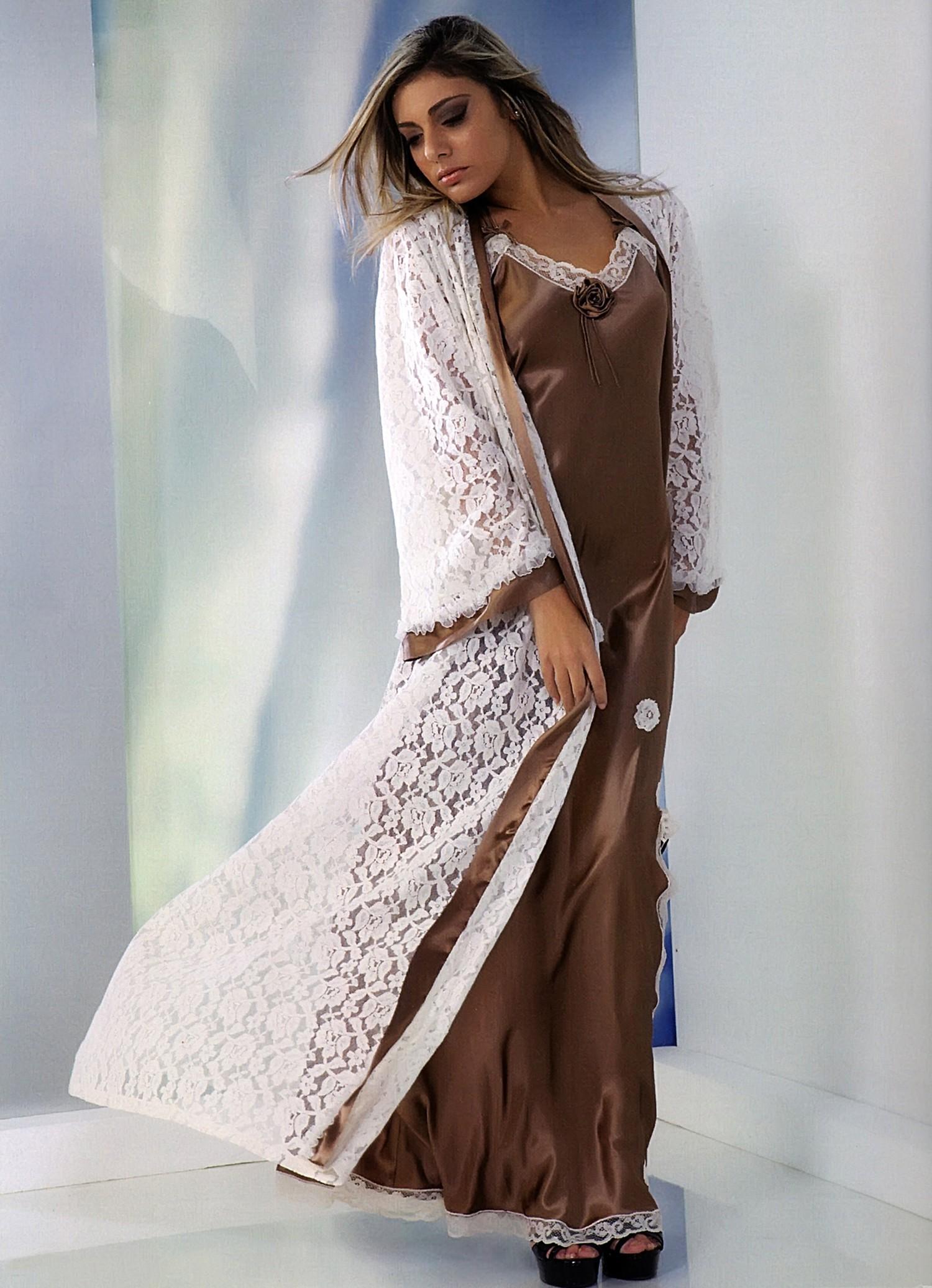 online in vendita vendita a buon mercato usa ben noto Tanit lussuosa vestaglia in seta