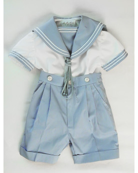 Giacomo pale blue boy sailor suit