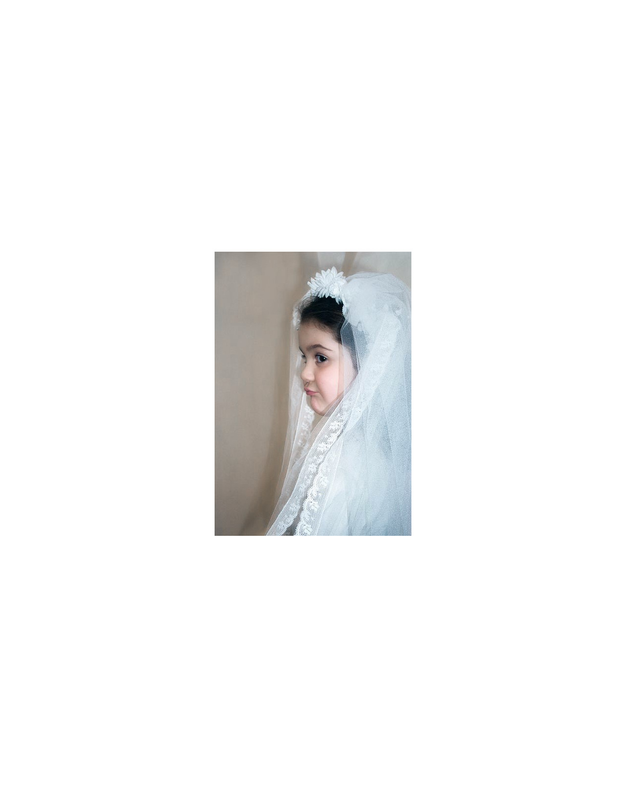 Sun first communion veil