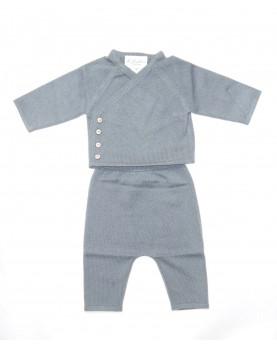 Cashmere completo baby grigio