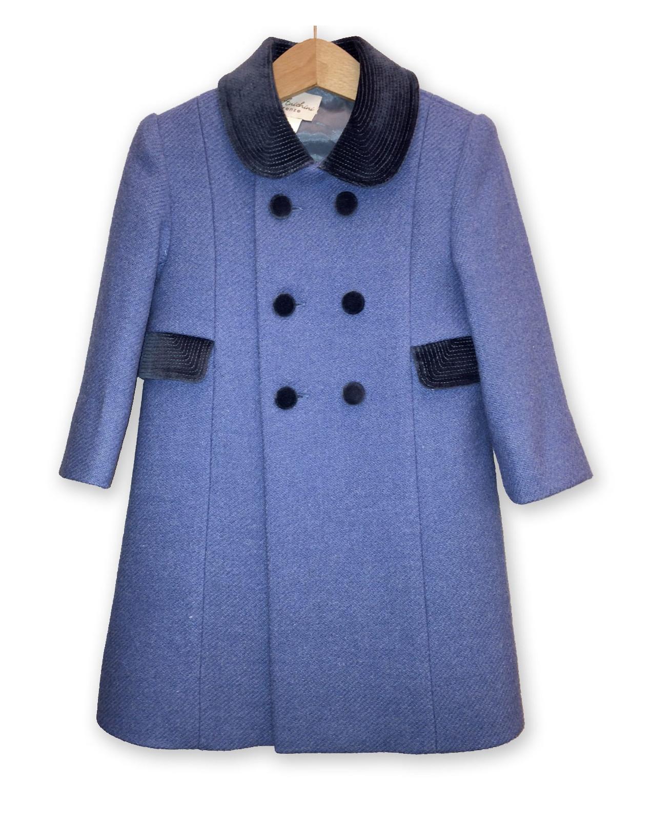 "Children  ""Redingote"" winter coat, sugar paper color"