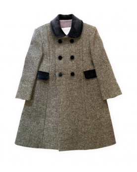 "Children  ""Redingote"" winter coat, gray."