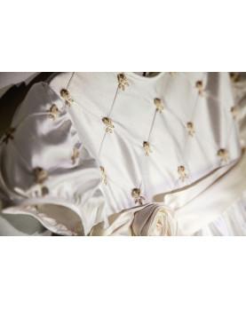 Iolanda girl silk party dress detail