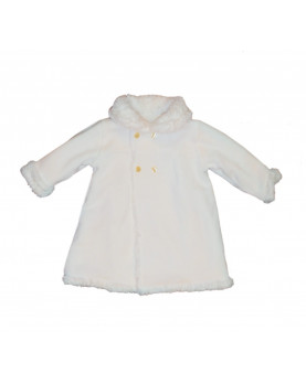 Ecological christening baby fur double face, side wool