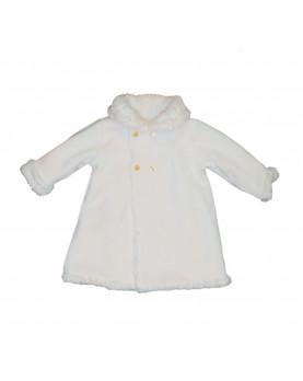 Pelliccia ecologica double face per bambina , lato cappottino lana