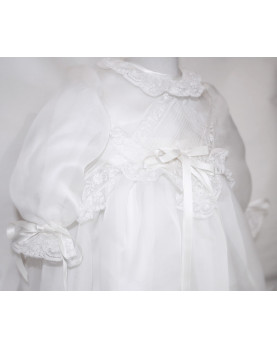 Narciso silk traditional christening gown